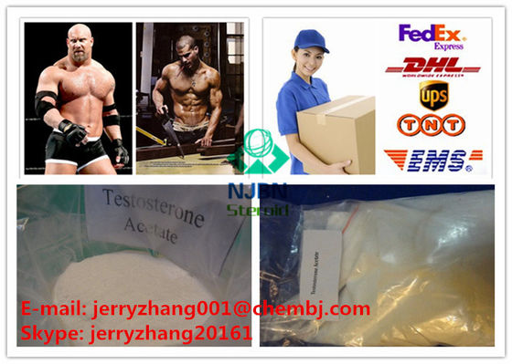 China Acetate Testosterone Anabolic Steroid CAS 1045-69-8 White Crystalline Powder supplier