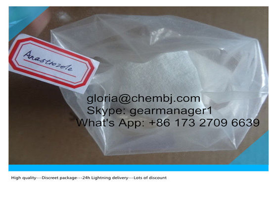 China 99% Min Healthy Anti Estrogen Steroids Anastrozole CAS 120511-73-1 Arimidex supplier