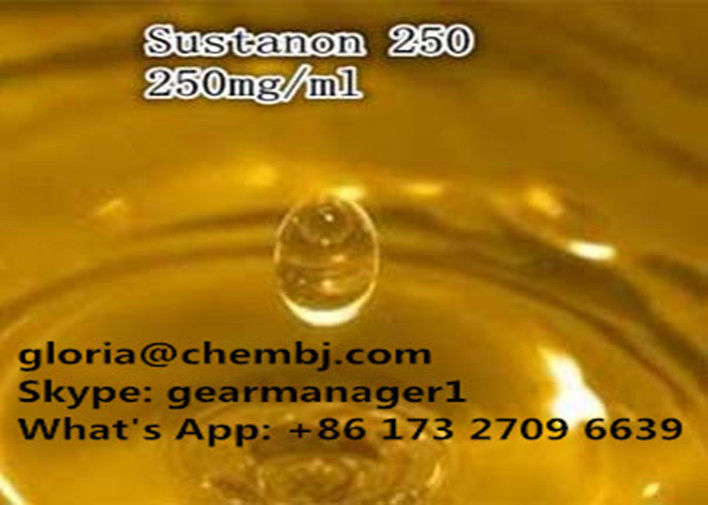 Yellow Liquid Injectable Anabolic Steroids Testosterone Sustanon 250