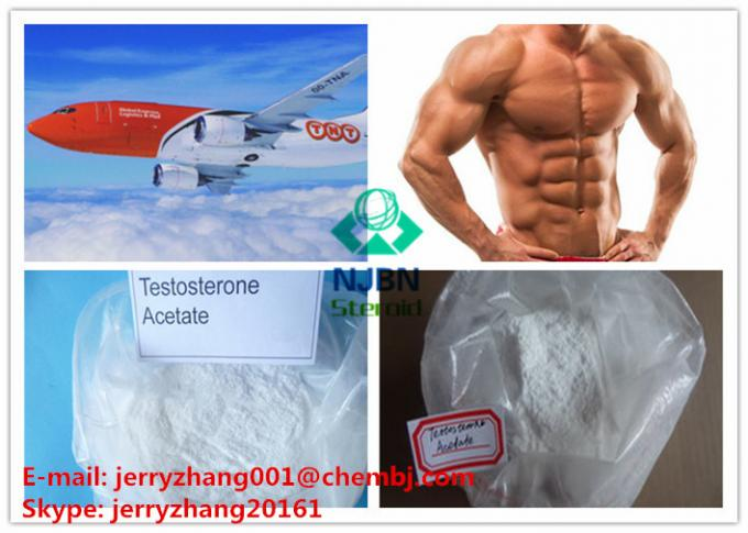 Acetate Testosterone Anabolic Steroid CAS 1045-69-8 White Crystalline Powder